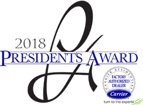 2018 Presidents Award Carrier Factory Authorized Dealer
