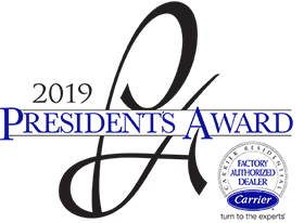 2019 Presidents Award Carrier Factory Authorized Dealer