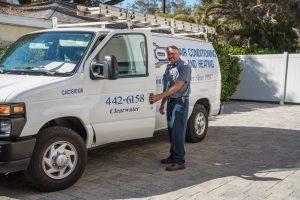 Cox van and technician